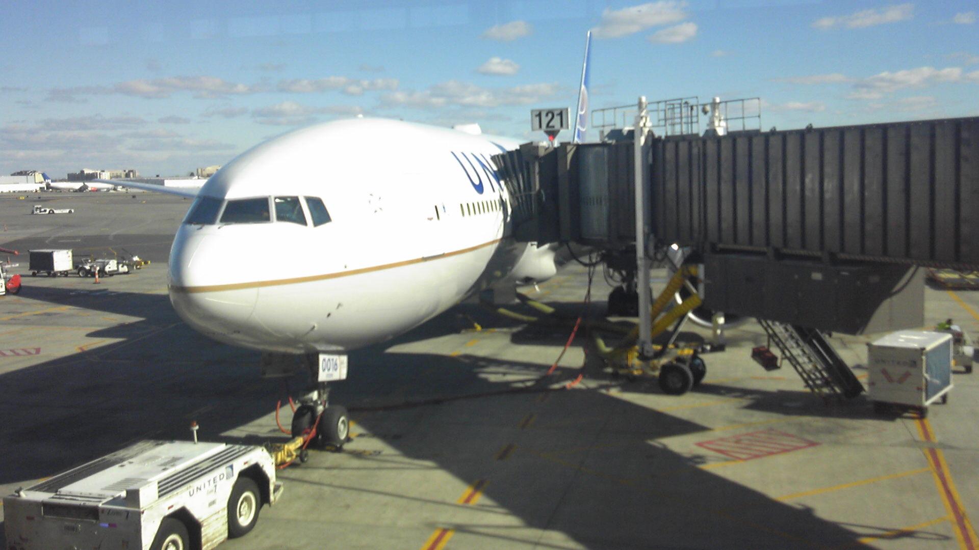 飛行機に搭乗!