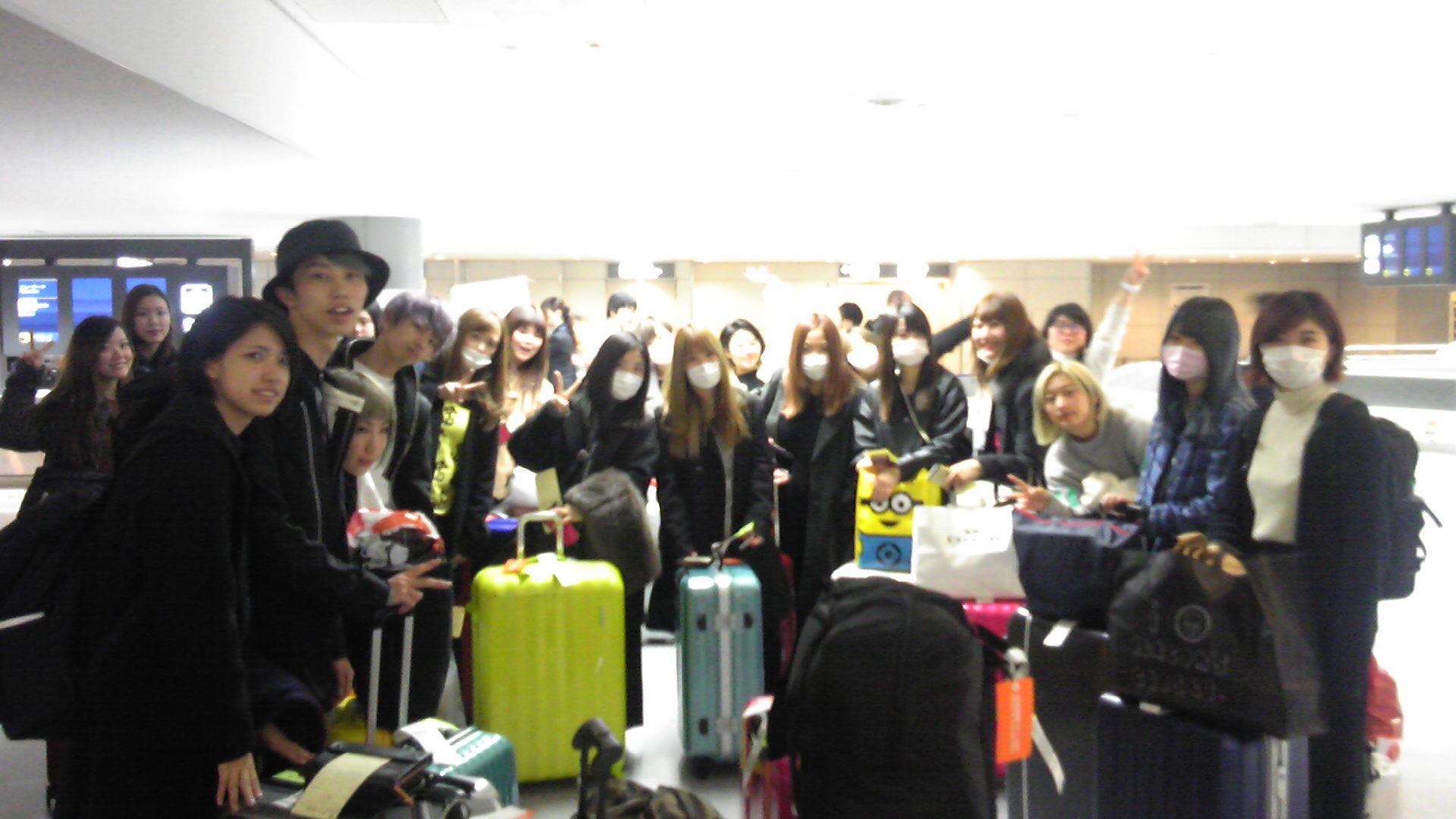 成田空港にて!